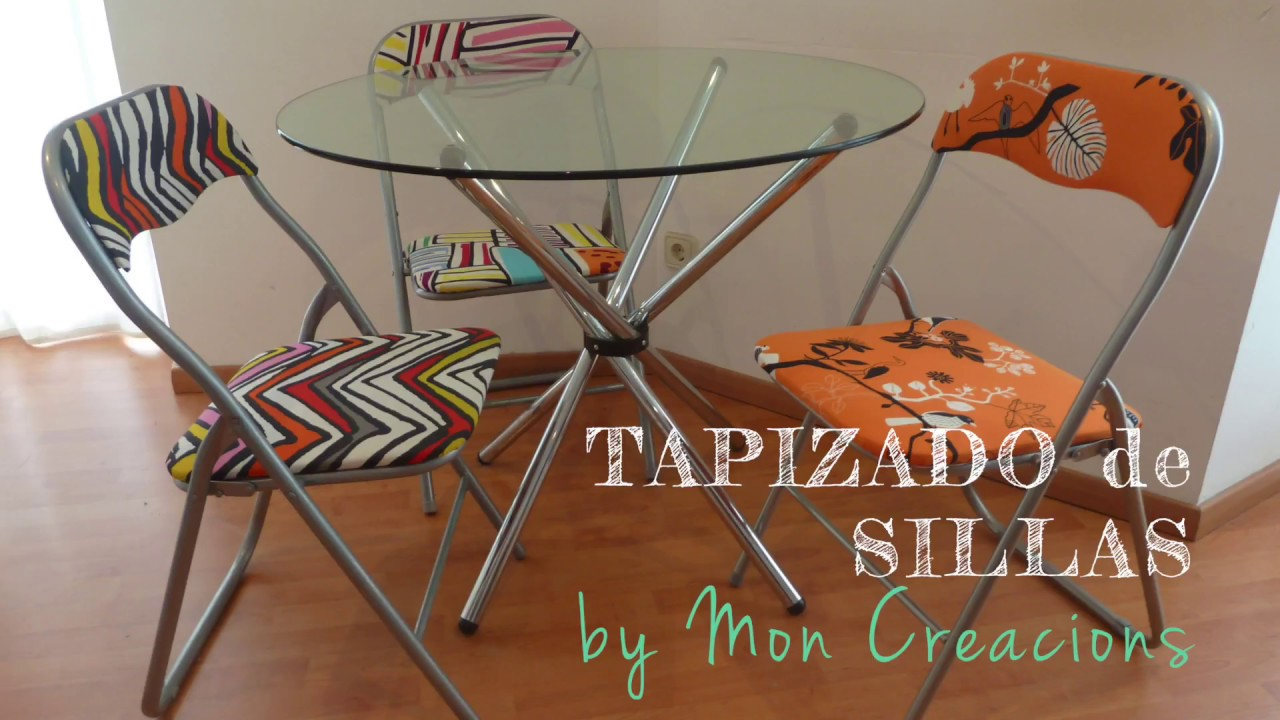 Tutorial diy tapizado f cil de sillas plegables youtube for Sillas plegables de tela