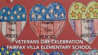 2018 Veterans Day at Fairfax Villa Elementary School