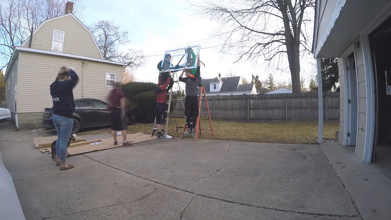 Installing Goalrilla Basketball Hoop Timelapse Youtube Diagram