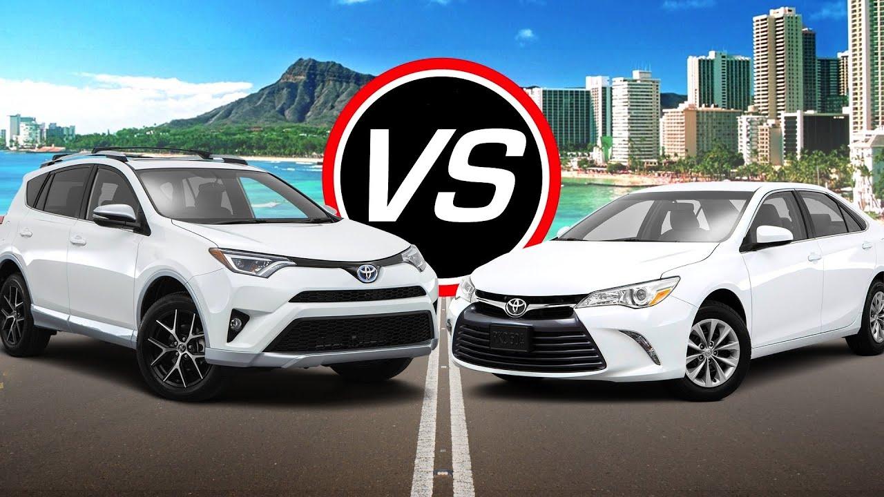 2016 Toyota RAV4 Hybrid vs 2016 Toyota Camry i4 Spec parison