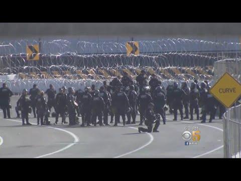 Tear Gas Deployed At California Border Crossing; Tensions Mounting