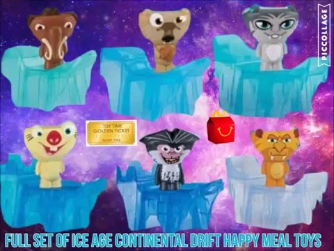 Full Set Of Mcdonald S Ice Age Continental Drift Happy Meal Toys Tickets To Toy Time Youtube