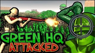 GREEN HQ ATTACKED ! Army Men Of War -  ACTION PACKED