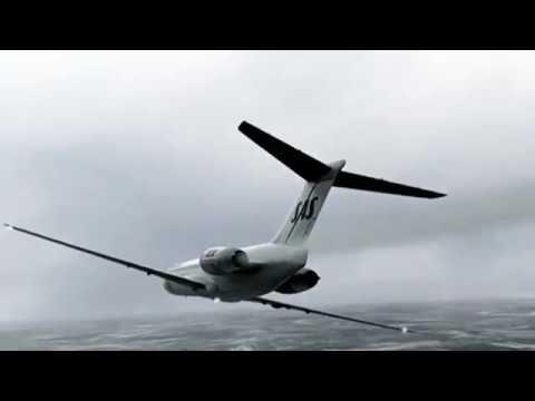 Scandinavian Airlines Flight 751 - Crash Animation