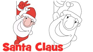 How to draw Cute Santa Claus step by step easy drawing for kids