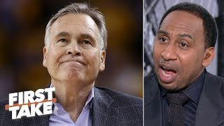 Download Mike D'Antoni is in a 'world of trouble,' could be fired by the Rockets - Stephen A. | First Take Mp3 and Videos