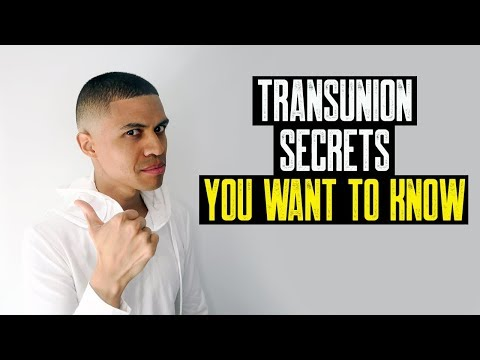 TRANSUNION SECRETS YOU WANT TO KNOW || 104 POINT BOOST