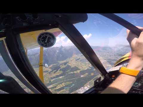 Schleppflug mit PA18-180 in Thun
