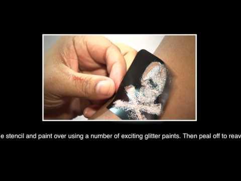 Simply Glitter How To Apply Body Art Glitter And Stencils Body Glitter Tattoos