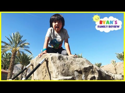 HUGE OUTDOOR PLAYGROUND for Children! Slides for Kids Play Area with Ryan's Family Review!