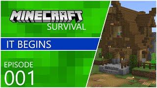 Minecraft 1.15.2 Survival Let's Play #1 - It begins!