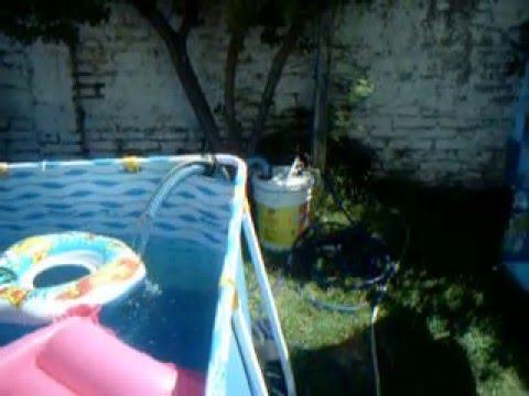 Filtro casero pileta pelopincho o de lona for Como hacer un filtro para piscina