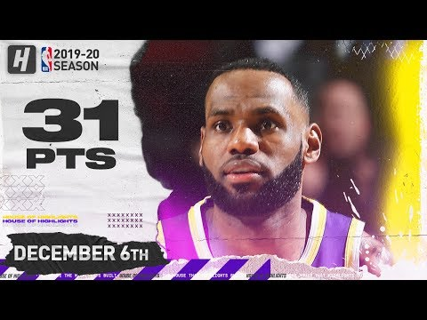 [Highlights] LeBron James 31 Pts | Lakers vs Blazers | December 6, 2019