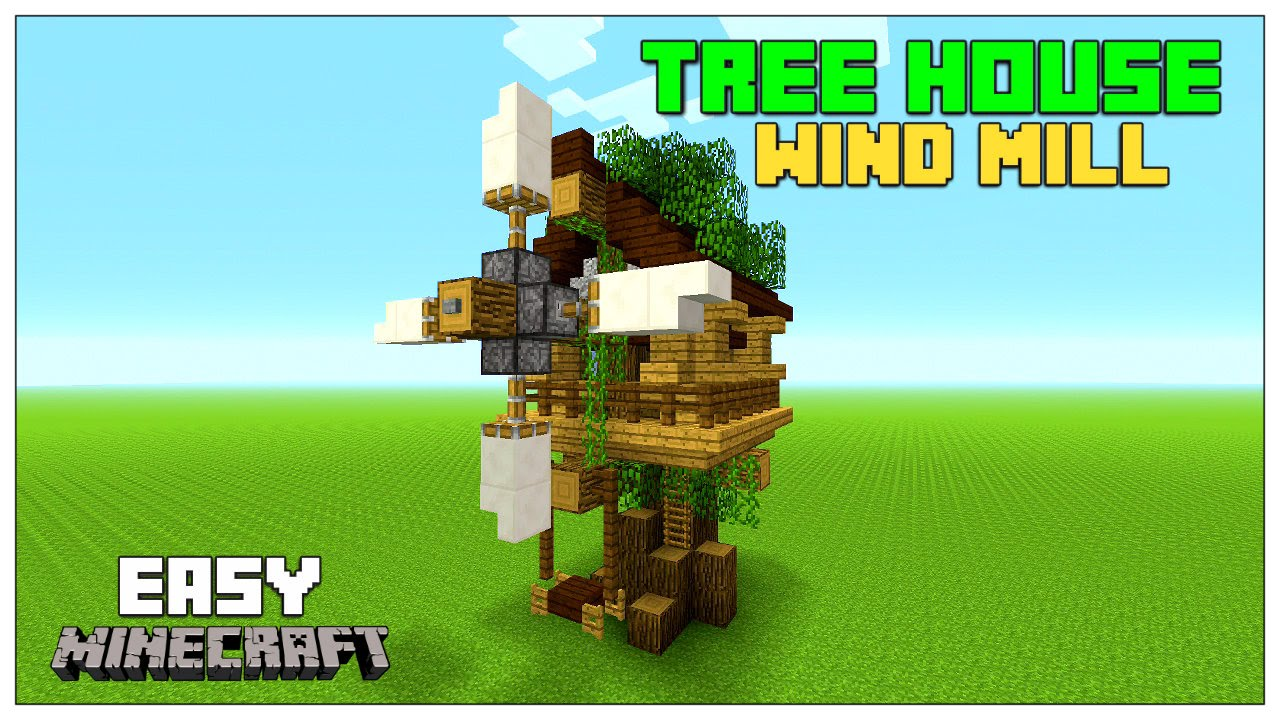 Minecraft tutorial how to build a small tree house for How to build a treehouse step by step