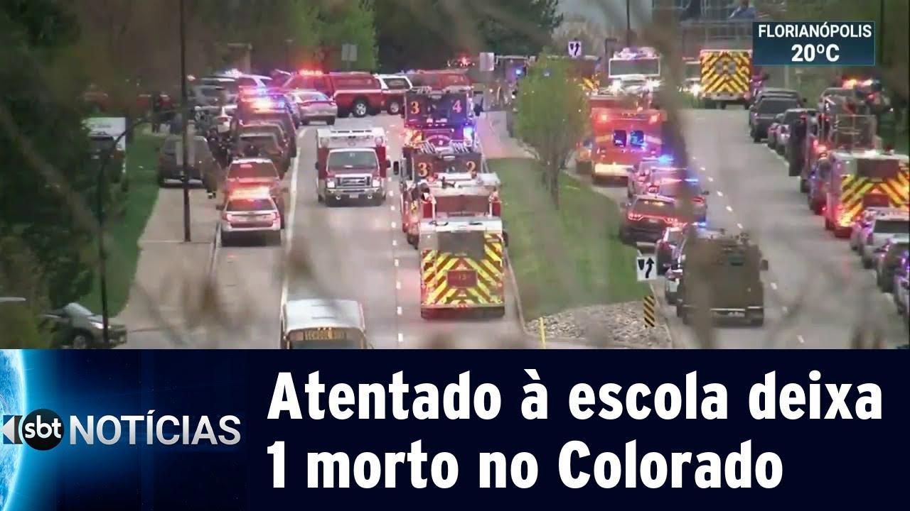 Ataque à escola deixa 8 feridos e 1 estudante morto nos Estados Unidos  | SBT Notícias (08/05/19)