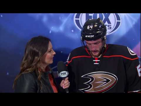 Ste Noesen on first NHL goal with the Ducks