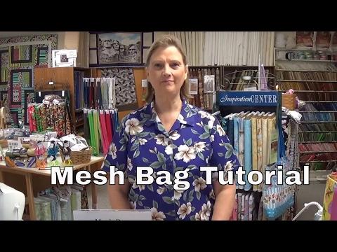 How to make a mesh bag.
