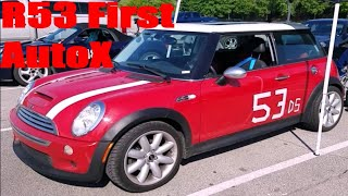 homepage tile video photo for First Auto Cross in the R53 Mini Cooper S