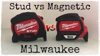 Обзор рулетки MILWAUKEE STUD vs MAGNETIC