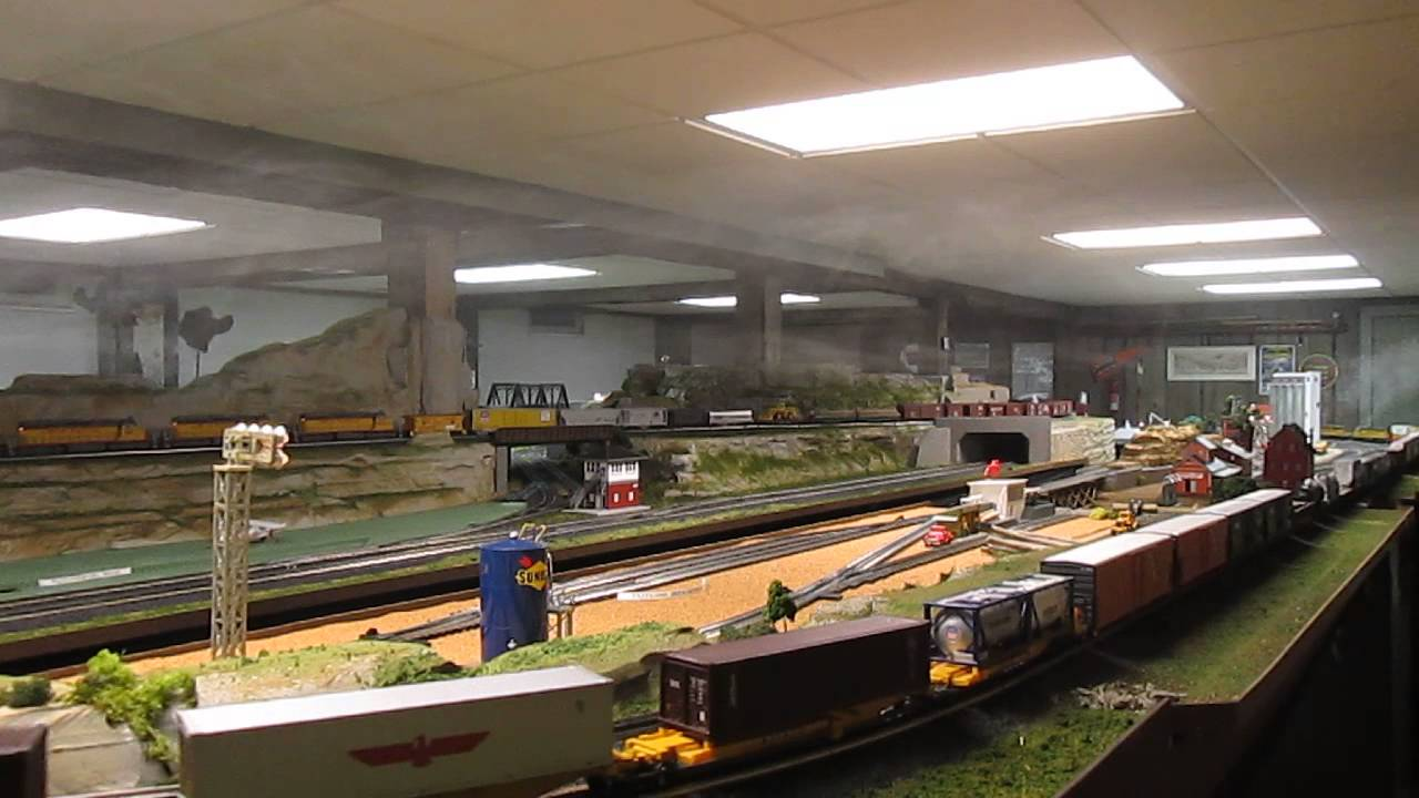 Three Rail O Scale Train 100 Feet Long Youtube