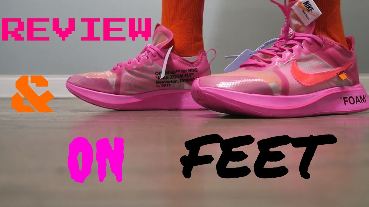 outlet online no sale tax how to buy OFF WHITE NIKE ZOOM FLY TULIP PINK REVIEW AND ON FEET - YouTube
