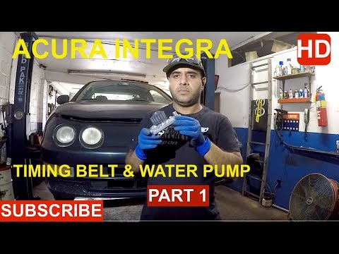 How to replace Timing Belt & Water pump on Acura Integra part 1