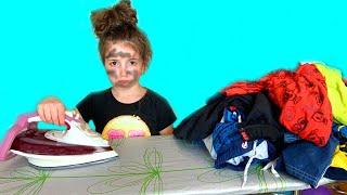 Masha as Cinderella Funny kids story