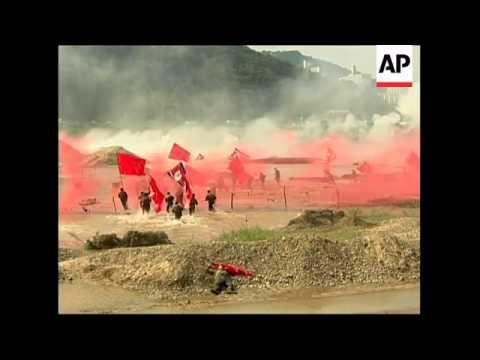 Re-enactment of Nakdong river battle against NKorea