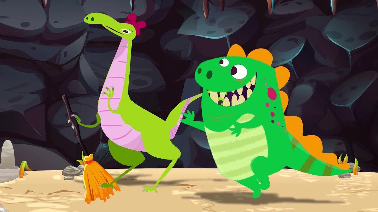 Dino E Dina Dinossauros Em Dina Cansada Desenho De Dinossauro