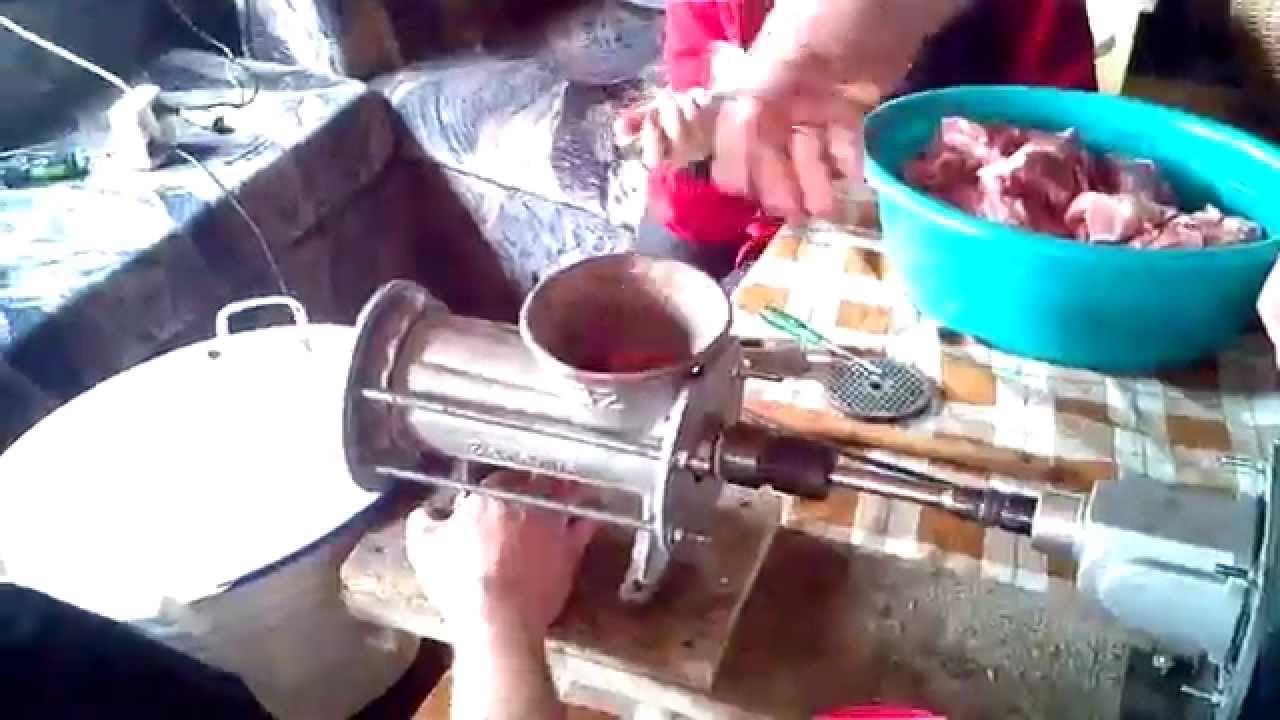 Poważnie Chatkowa kiełbasa - maszynka do mielenia mięsa domowej roboty QF83
