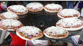 Tawa Cheesy Vegetable Pizza Recipe |  Vegetable Pizza Recipe | How to Make Veggie Pizza