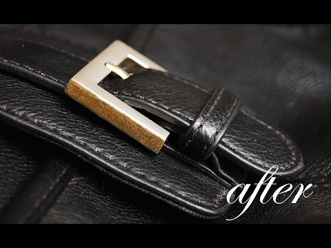 How to add gold sparkle to a silver buckle bag | DIY