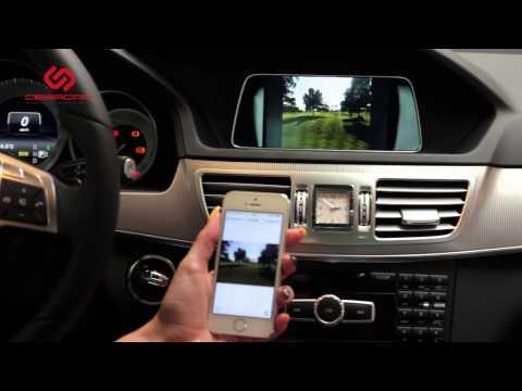 Mercedes E-klasse: Kibercar - видеоинтерфейс KiberLink и модуль I-Connect (MirrorLink)