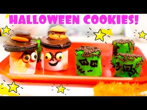 Halloween Cookie Recipe For Kids! Bake With Marshmallows.
