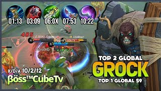 Tank Items? No Needed! 1848 Match Grock with 96.8% WR is Real! βöss™CubeTv Top 1 Global S9 ~ MLBB