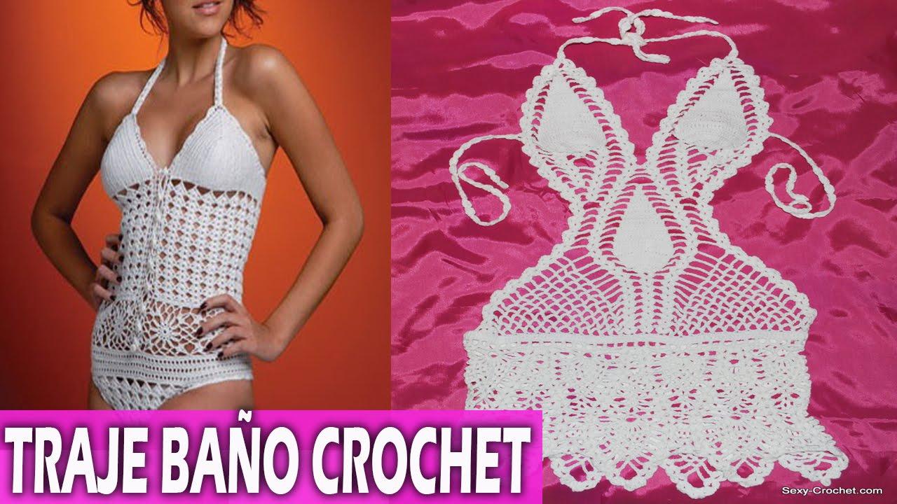 Traje de ba o para mujer tejidos en crochet dise os for Trajes de bano tejidos