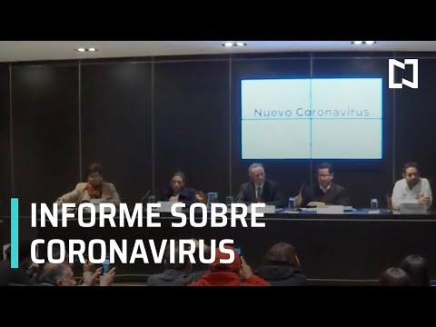 Informe de la Secretaría de Salud sobre casos de coronavirus