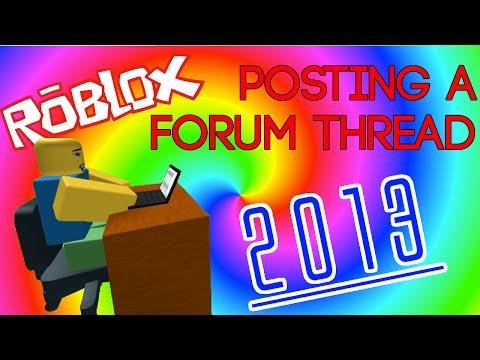 ROBLOX: Posting a Forum Thread (2013)
