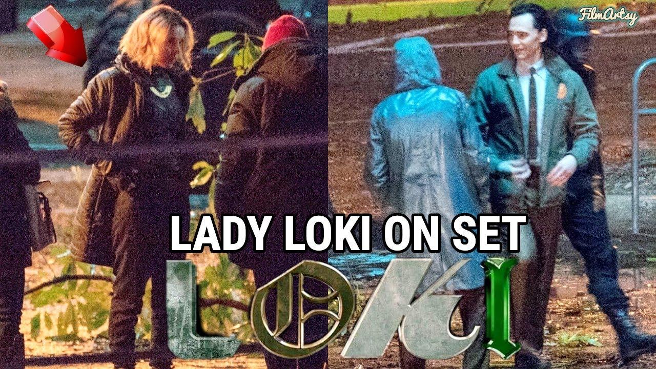 The Lady Loki on set.