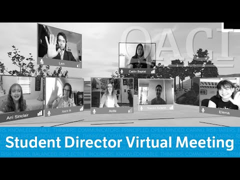 Principal Blog: A Virtual Meeting With Our Student Directors