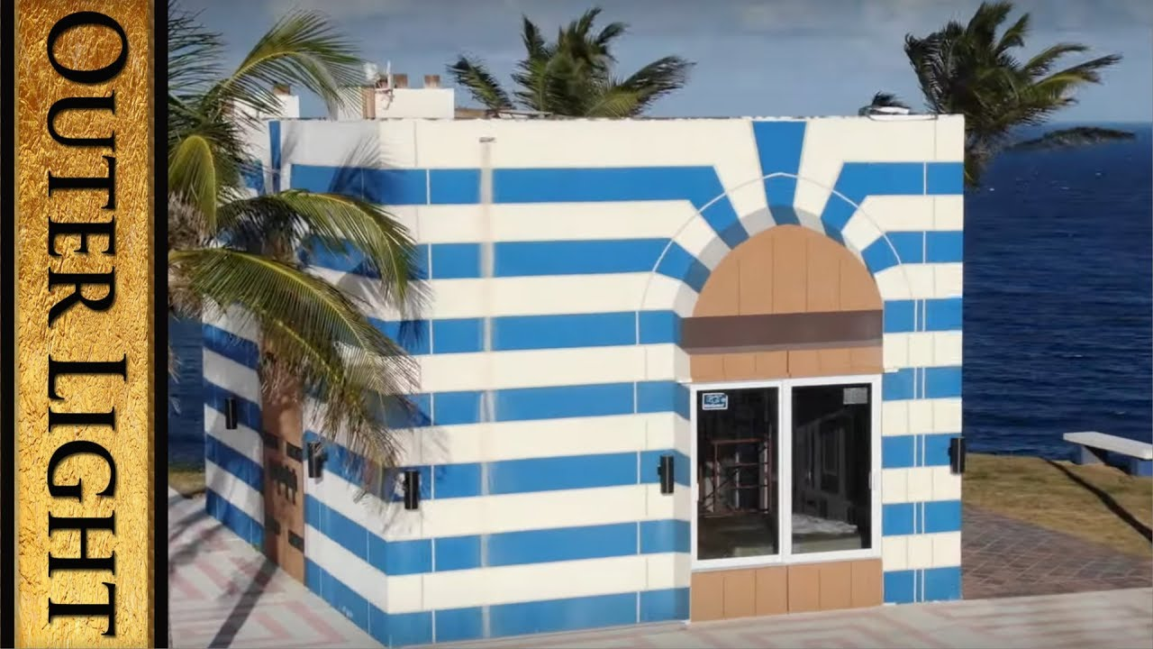 The Outer Light New drone footage, shows close up of the barred door on Epstein Island temple