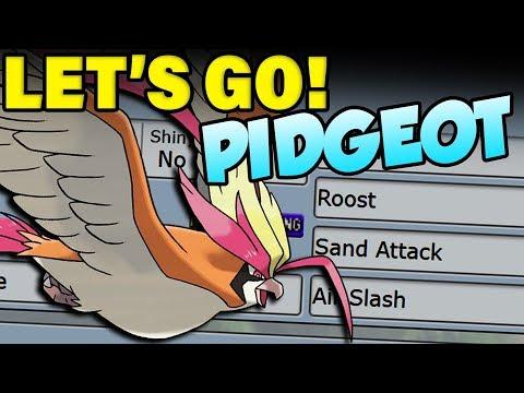 Pokemon Let's Go Pidgeot Moveset
