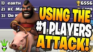 TRYING TO LEARN THE TOP PLAYERS PUSH STRATEGY! - Clash of Clans
