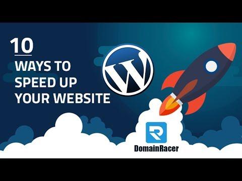 Speedup WordPress Website Speed 2019 : DomainRacer