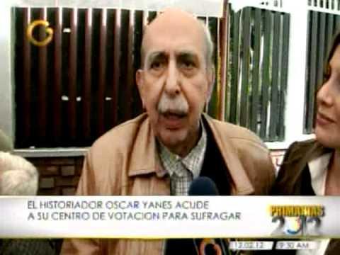 Oscar Yanes votando en las primarias