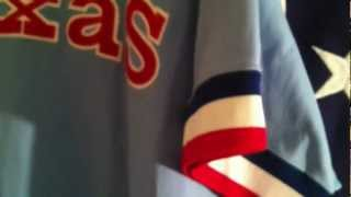 Mitchell and Ness Texas Rangers 1976 Powder Blue Road Jersey Gaylord Perry