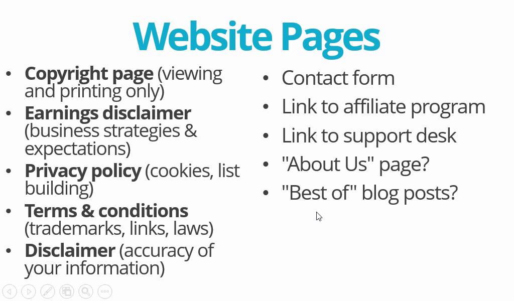 setup your website legal pages with wordpress and paper template