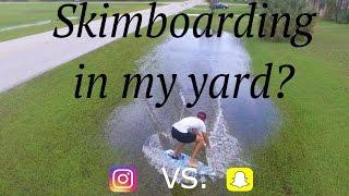 Video SKIMBOARDING IN MY YARD! // (Instagram vs. Snap Chat Stories) download MP3, 3GP, MP4, WEBM, AVI, FLV Oktober 2018