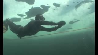 dnya rekoru tek nefes ile buzaltında 110 metre