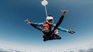 Первый прыжок с парашютом с 4000 метров. 60 секунд свободного падения.